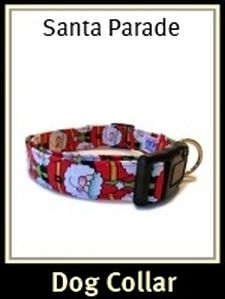 Christmas Santa Parade Dog Collar