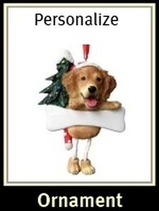 Golden Retriever Tree Ornament Personalize