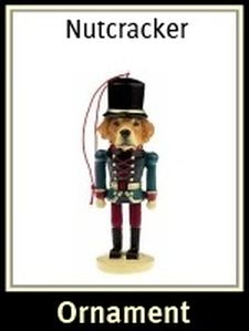 Golden Retriever Nutcracker Ornament