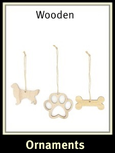 Golden Retriever Wooden Christmas Ornaments