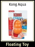 Kong Aqua Floating Dog Toy with Rope
