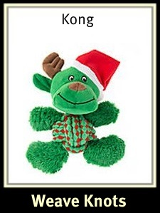 Kong Holiday Weave Knots Reindeer Dog Toy
