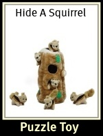 Kyjen Hide a Squirrel Plush Puzzle Dog Toy