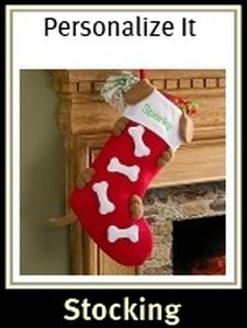 Love Them Bones Embroidered Personalized Dog Stocking