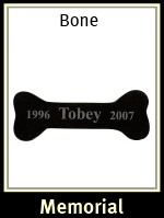 Engraved Granite Bone Pet Memorial