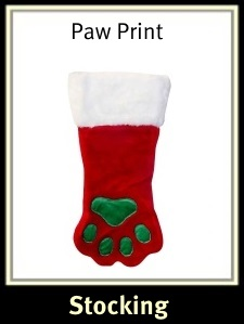 Christmas Dog Paw Stocking