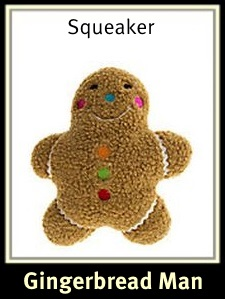 Gingerbread Man Sherpa Dog Toy
