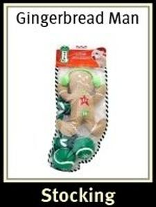Pet Works Holiday Stocking Set Gingerbread Man