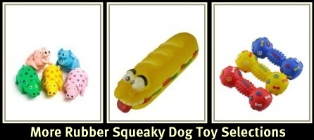 Rubber Squeaky Dog Toys