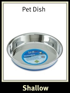 Shallow Heavy Pet Dish