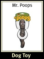 Mr. Poops Dog Toy