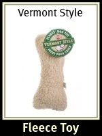 Vermont Style Fleecy Dog Toy Bone