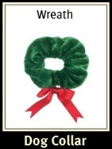 Wreath Christmas Dog Collar