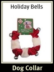 Holiday Dog Bell Collar