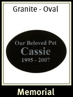 Oval Granite Pet Memorial