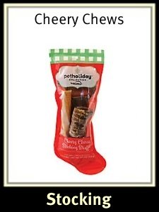 Pet Holiday Cheery Chews Dog Stocking