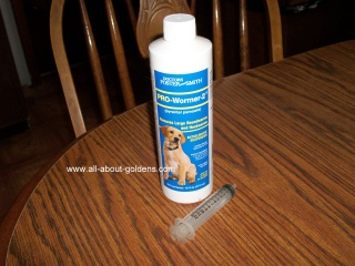 worming puppies, Pyrantel Pamoate  and syringe