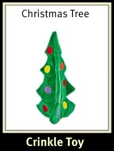 Christmas Tree Crinkle Dog Toy