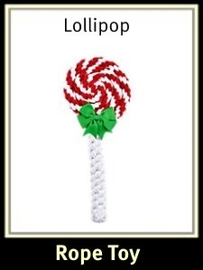Lollipop Rope Dog Toy